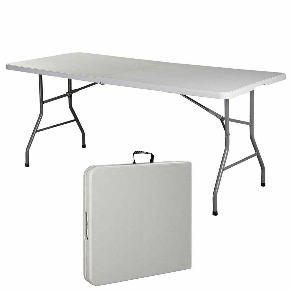 6 folding table portable plastic indoor outdoor