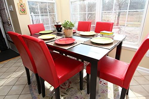 7 6 Person and Chairs - Red