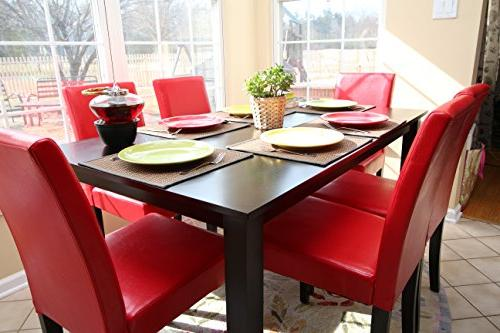 7 Red 6 Person Chairs red Dining - Parson