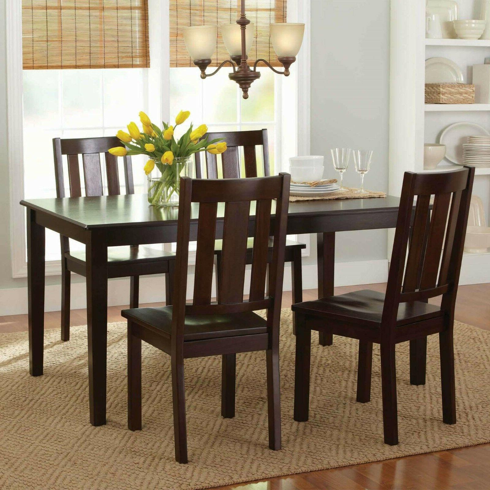 7 Home Chairs Mocha Solid Wood
