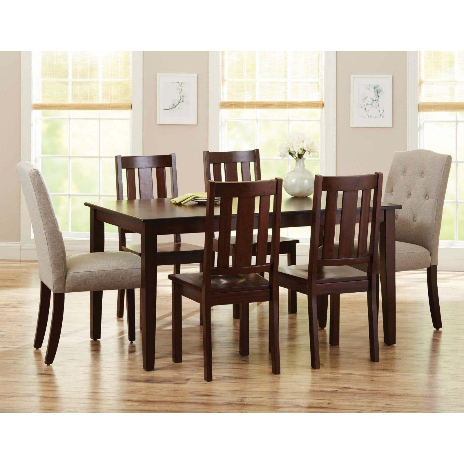 Home Furniture Table 6 Chairs Solid