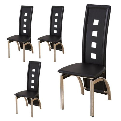 7 Piece Dining Set and Black Glass Room Breakfast