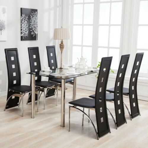 7 piece dining table set and 6