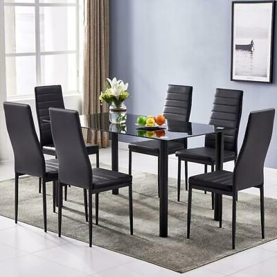 7 BLACK GLASS DINNING