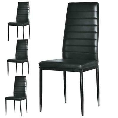7 PIECES DINING BLACK GLASS AND 6 CHAIRS DINNING SET