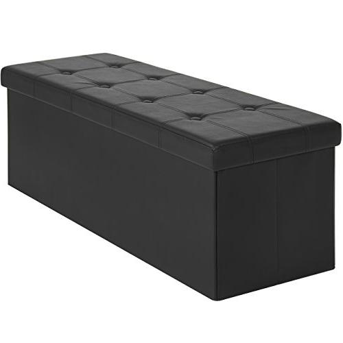 Best Choice Products Faux Leather Folding Storage Ottoman La