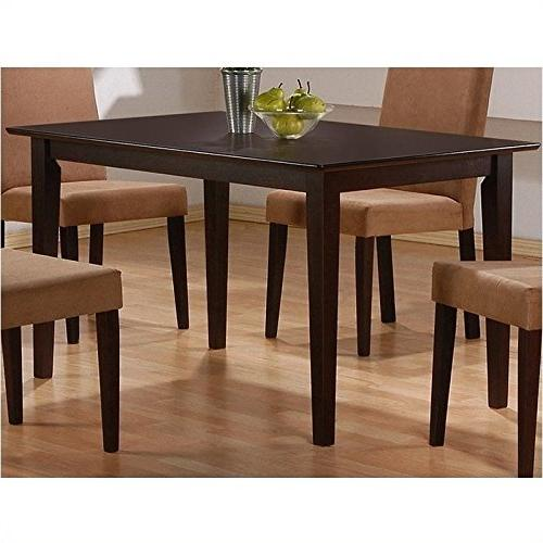 Coaster Hyde Rectangular Casual Dining Leg Table in Cappucci