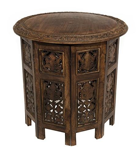Cotton Craft Jaipur Solid Wood Hand Carved Accent Coffee Tab