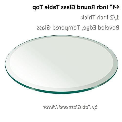 """Fab Glass and Mirror 1/2"""" Thick Beveled Tempered Round Glass"""