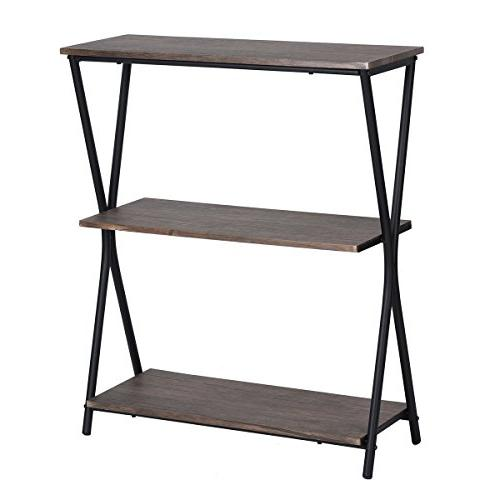 Bookshelf Shelves Industrial Bookcase,MDF with
