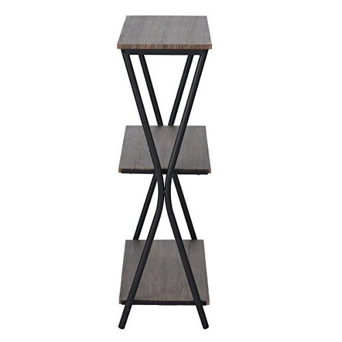HOMY 3 Tier Bookshelf Office Shelves Industrial