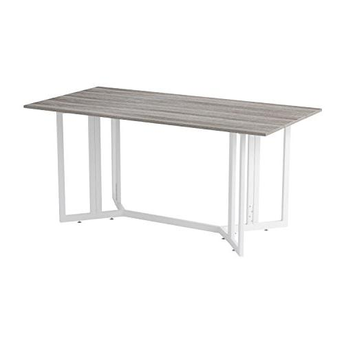 Holly & Martin Drop Console Table, Gray Finish with Metal