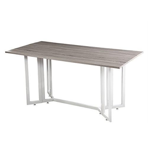 Holly Drop Table, Weathered Gray with