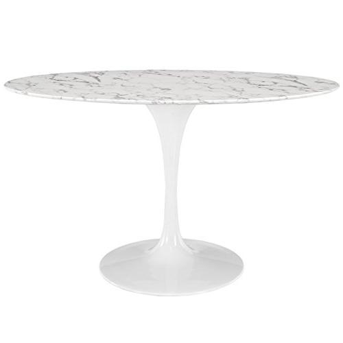 """Modway Lippa 54"""" Oval-Shaped Artificial Marble Dining Table"""