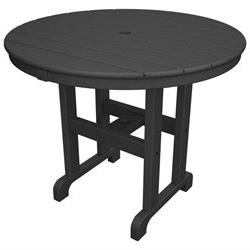 Poly-Wood Round 36 Dining Table - Round Top x 36 Table Top D