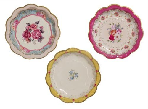 Talking Tables Truly Scrumptious Disposable Plates, 12 count