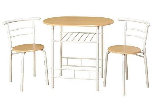 Target Marketing Systems 3 Piece Two-Toned  Bistro Dining Se