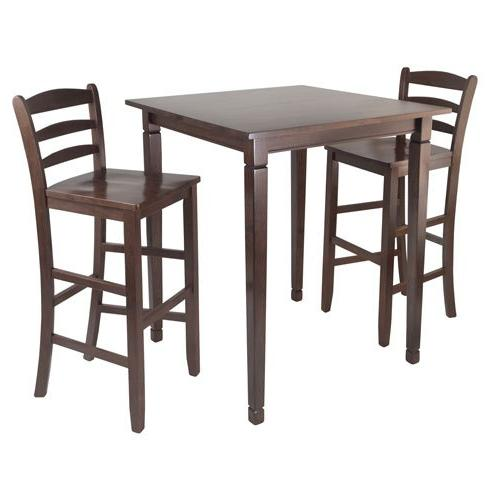 Winsome 3pc Kingsgate High/Pub Diing Table with Ladder Back