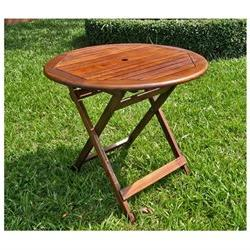 Acacia 32-inch Round Folding Table