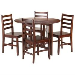 Winsome Alamo 5-Piece Drop Leaf Table with Straight Ladder B