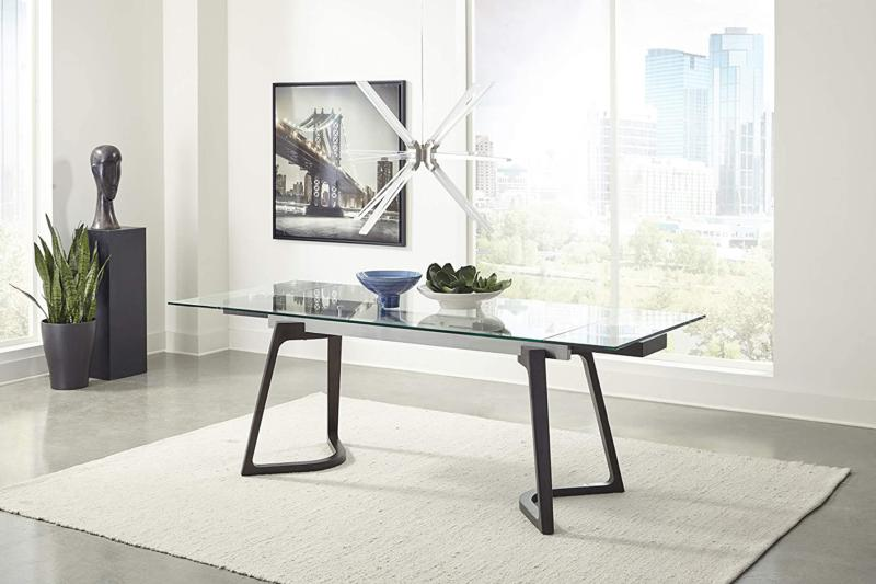 Coaster Home Glass Top Dining Table