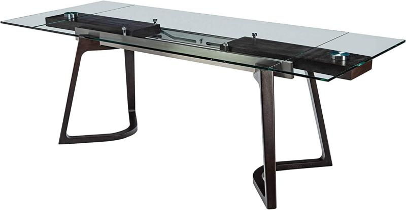 annapolis glass top espresso dining table