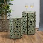 Antique Style Green Accent Side Table