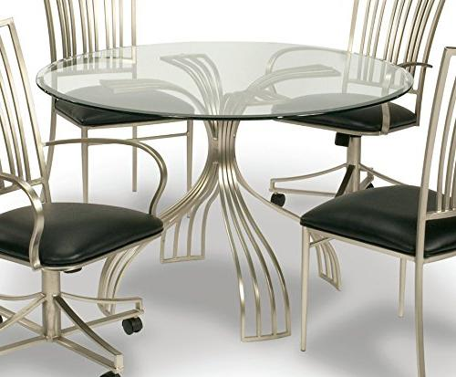 Milan Astrid Dt 48 Round Gl Dining Table