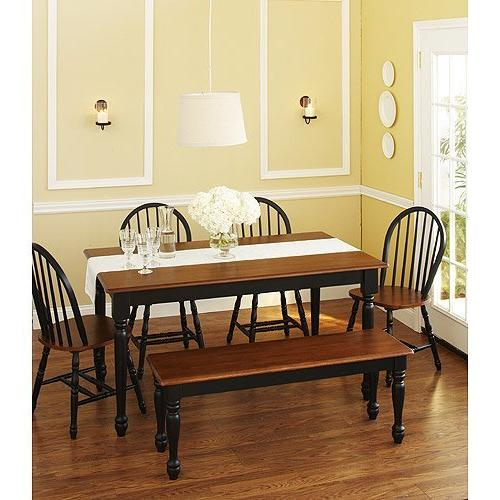 Better Homes and Gardens Autumn Lane 6-Piece Dining Set, Bla