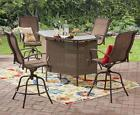 Outdoor Bar Set for Patio Bar Counter Height Table Chairs 5-