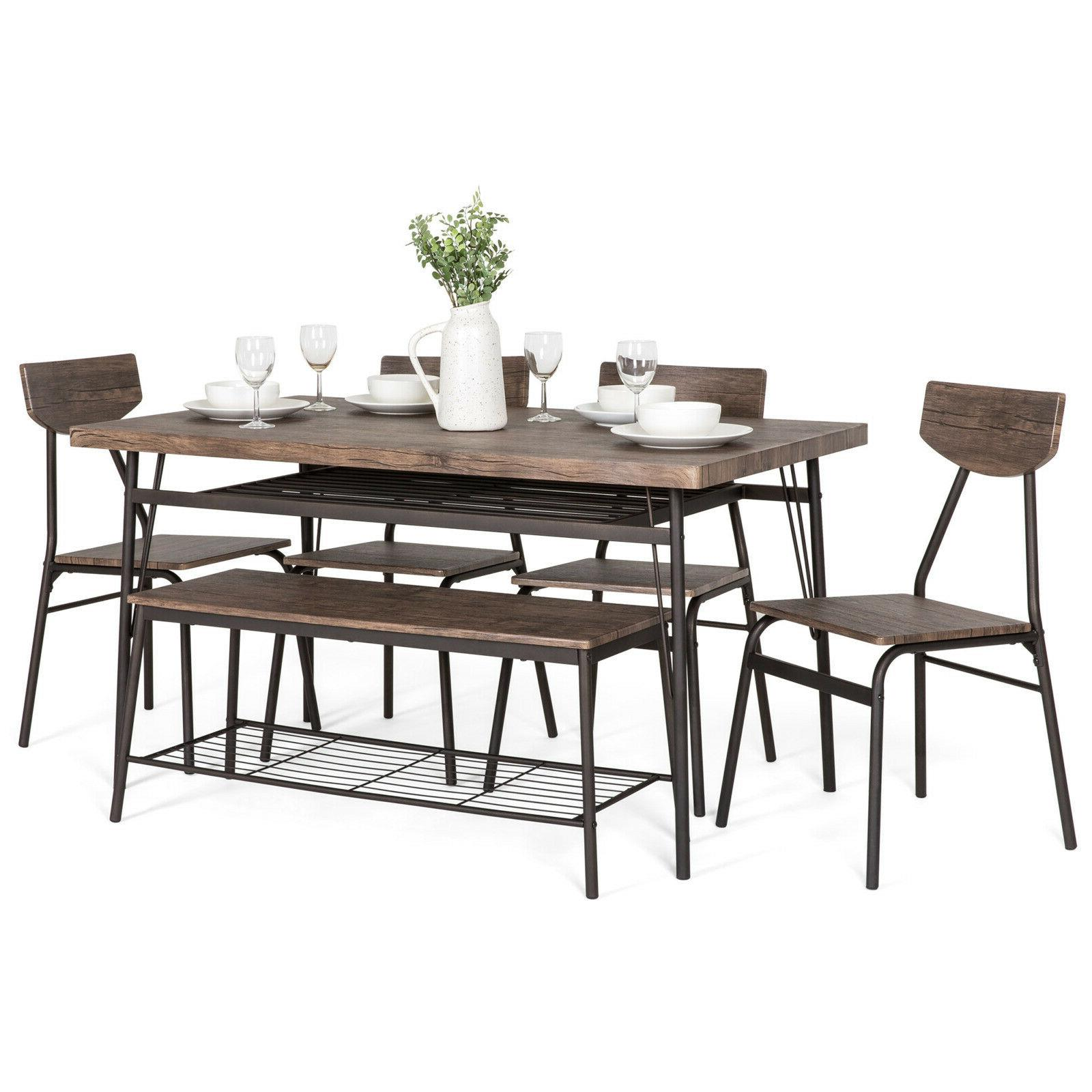 bcp 6 piece modern dining set w