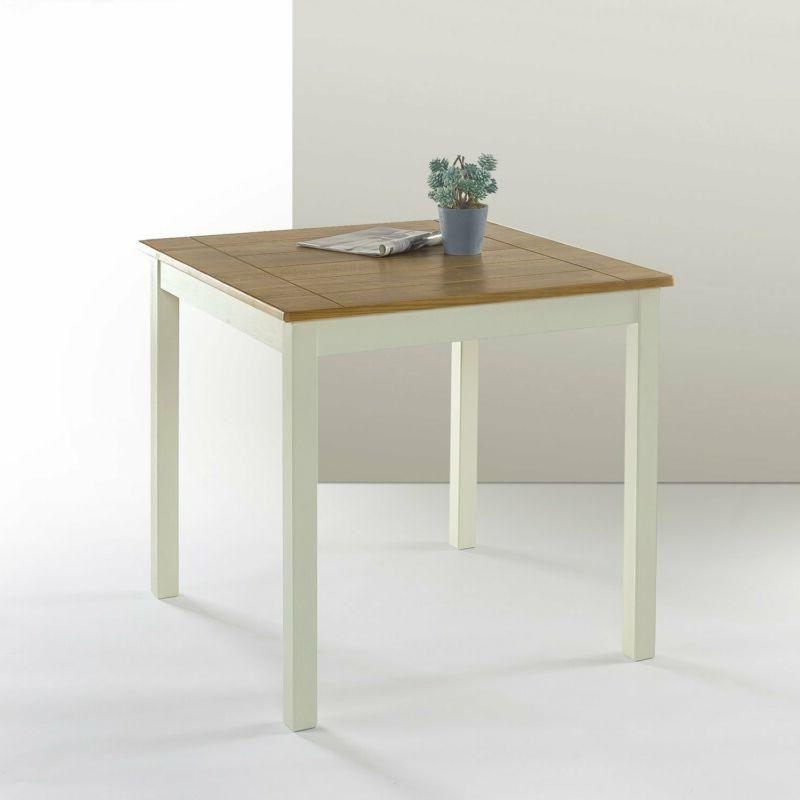 becky farmhouse square wood dining table