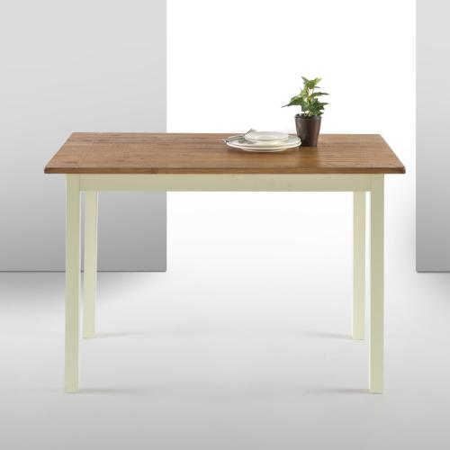 becky farmhouse wood dining table table only