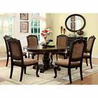 Furniture of America Bershire 7 Piece Round Dining Table Set