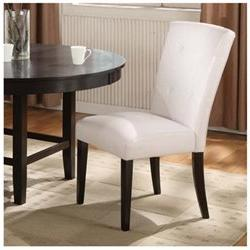 Bossa Parsons Chair with White Leatherette Seat