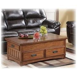 Medium Brown Cocktail Table with Lift-Top by Ashley Furnitur