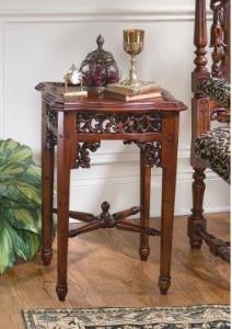 Classic Antique Replica Solid Hardwood Side Accent Table