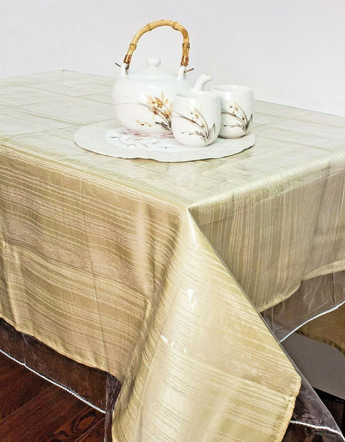 clear vinyl tablecloth stain protector durable dining