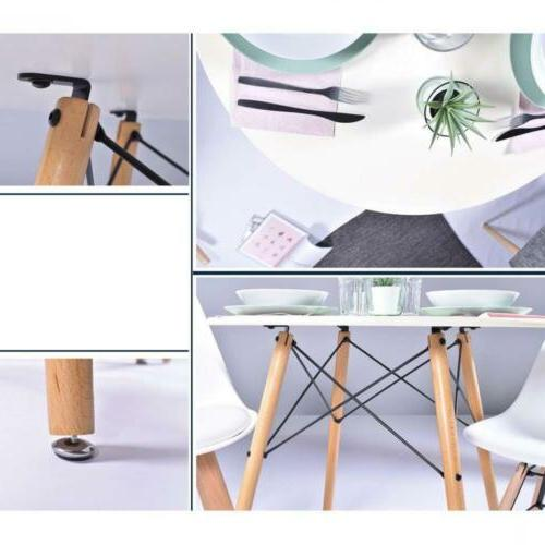 Homy Coffee Dining Table Side White Table,...