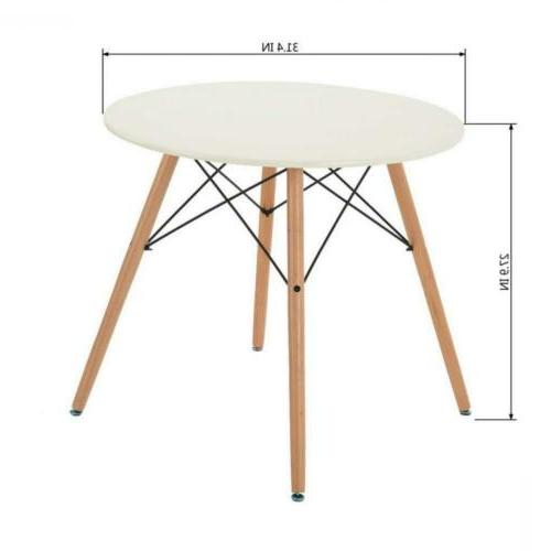 Homy Casa Coffee Dining White Table,...