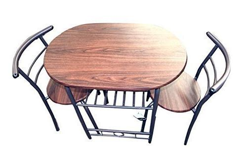 Handi-Craft 3 Piece Compact Dining Table and Chairs, Dark