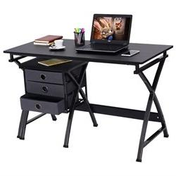 Costway Computer Desk PC Laptop Writing Table Home Office Fu