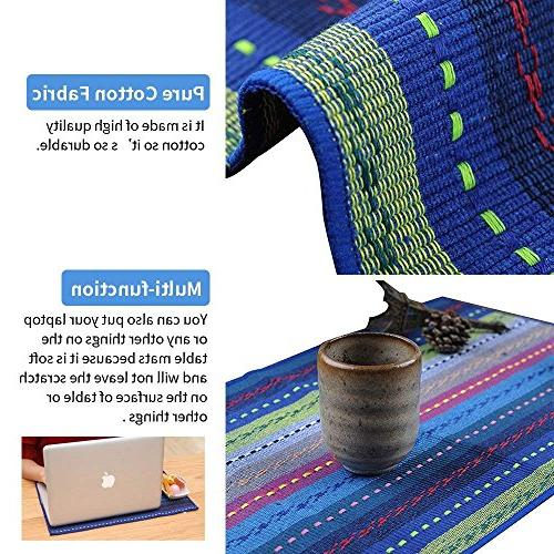 """WOOD MEETS COLOR 6 Woven Ribbed Washable 12"""" 18"""""""