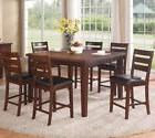 Poundex F2208 F1297 Counter Height Dining Table And Chairs 7