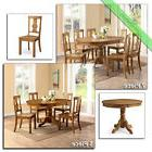 Country Dining Room Sets Farmhouse Table Chairs Wood, 5 Pc &