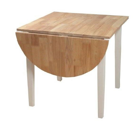 Country Table Solid Wood Small White Natural