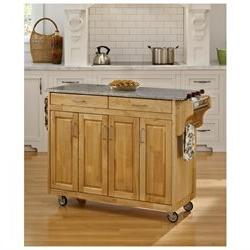 Home Styles Create-a-Cart Natural Granite Top Cart