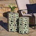 Outdoor Accent Tables End Table Decor Indoor Boho Chic Moroc