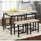 5 Piece Dining Set Small Kitchen Breakfast Dinette Table Sto