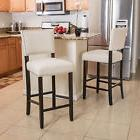 Denise Austin Home William Bonded Fabric Backed Barstool